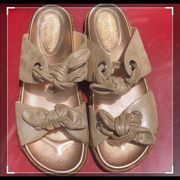d2db2036f Jimmy Choo Shoes | Nixon Knotted Espadrille Slides | Poshmark